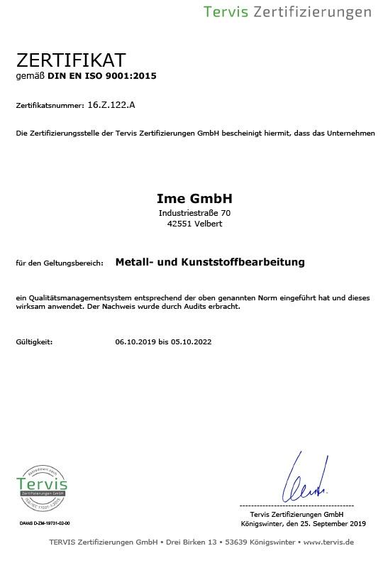DIN EN ISO Zertifikat